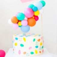 DIY Balloon Cake Topper by