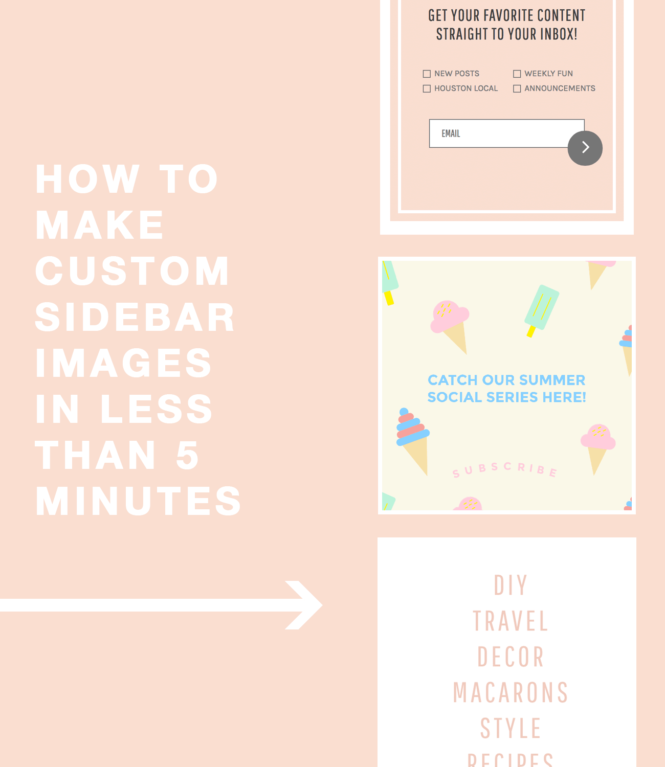 how to make a custom sidebar images in less than 5 minutes by top Houston lifestyle blogger Ashley Rose of Sugar and Cloth