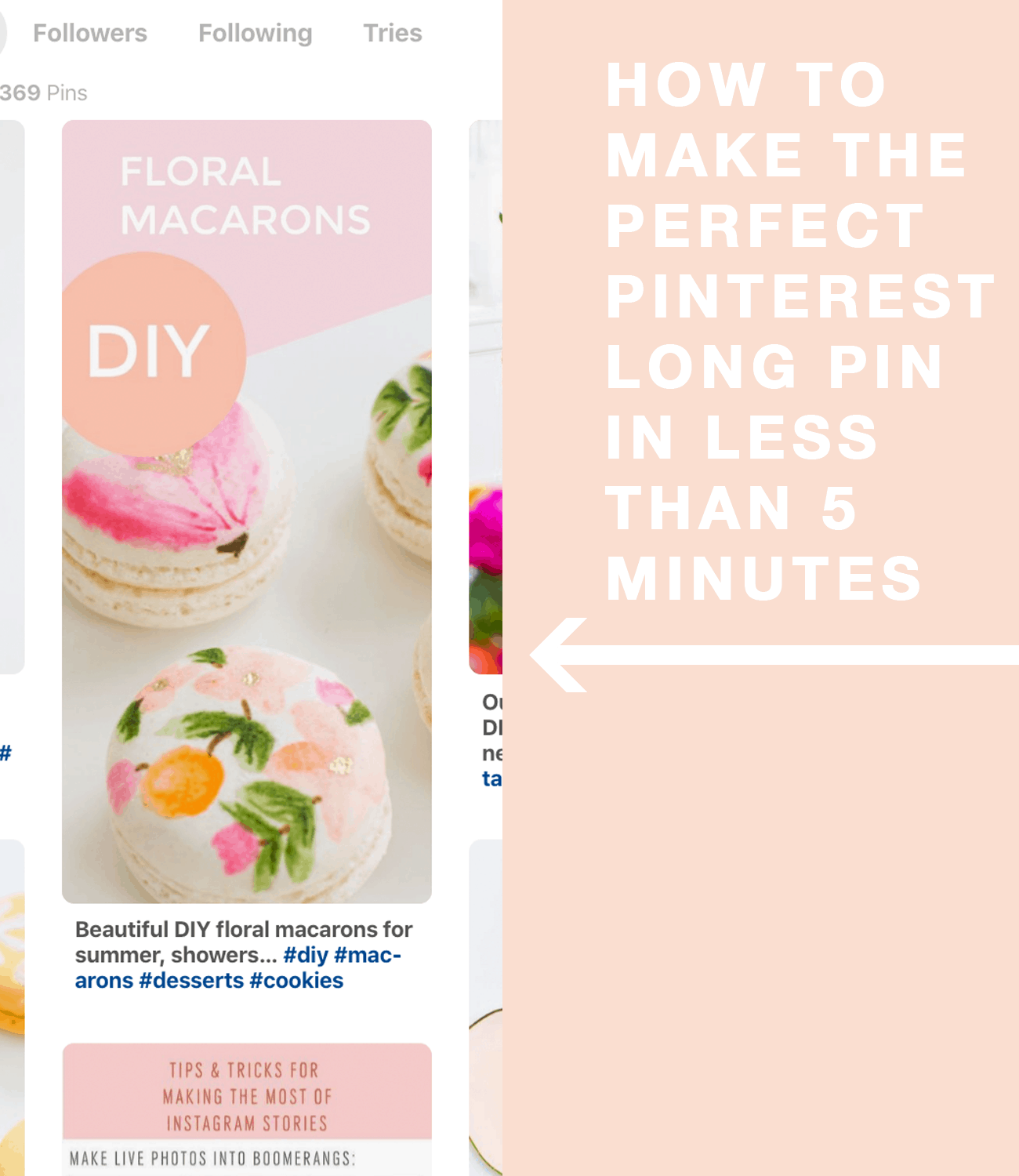 how to make the perfect pinterest long pin in less than 5 minutes by top Houston lifestyle blogger Ashley Rose of Sugar and Cloth