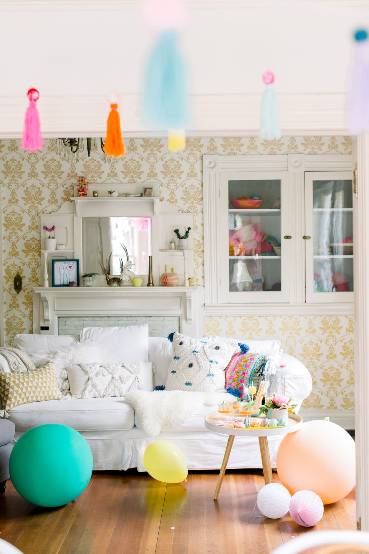 A Colorful Pom Pom Birthday Party With Shop Leo By