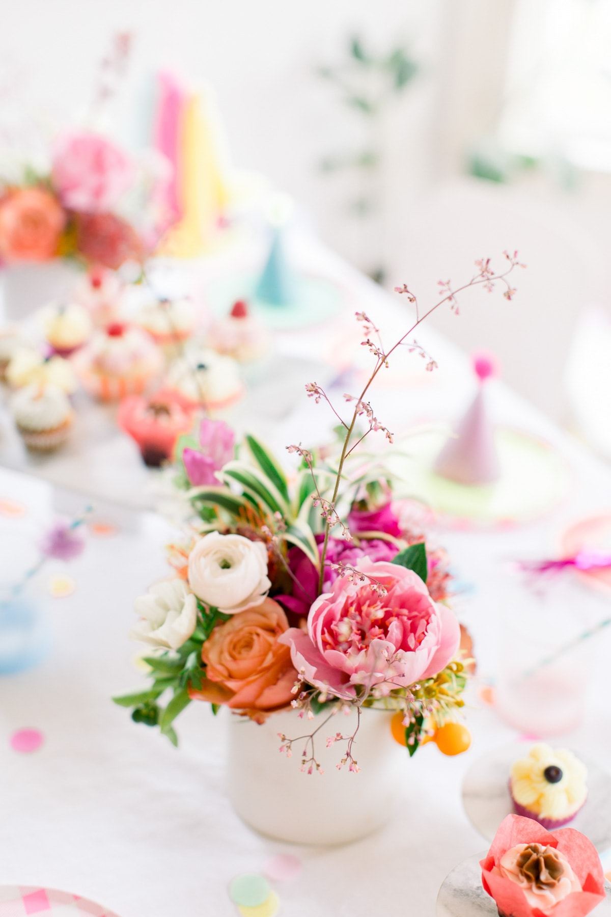 A Colorful Pom Pom Birthday Party with Shop Leo by top Houston lifestyle blogger Ashley Rose of Sugar & Cloth
