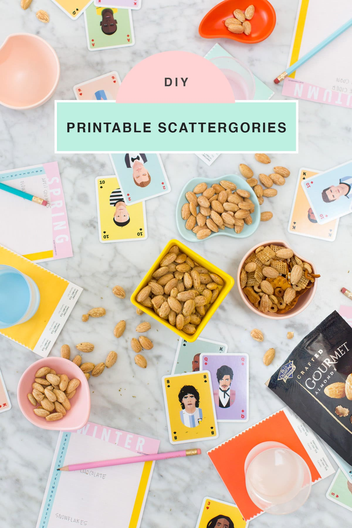 DIY Printable Scattergories Game Night by top houston lifestyle blogger Ashley Rose of Sugar & Cloth #diy #printable #entertaining #games