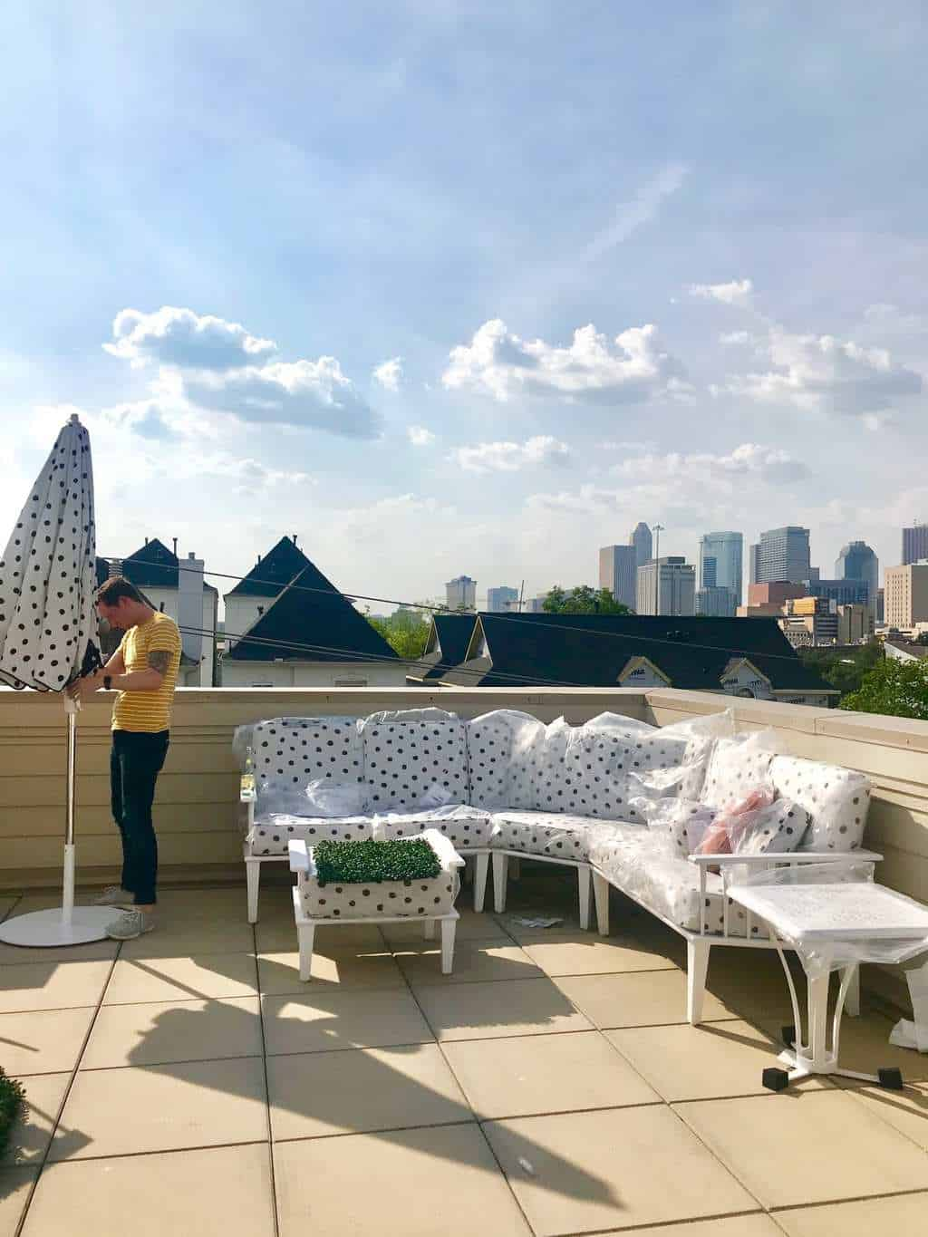 Rooftop Makeover Design Plan & Before Photos by top Houston lifestyle blogger Ashley Rose of Sugar & Cloth #design #beforeandafter #makeover