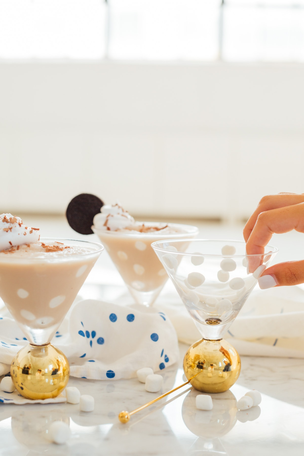 Frozen Cookies and Cream Polka Dot Martinis Recipe