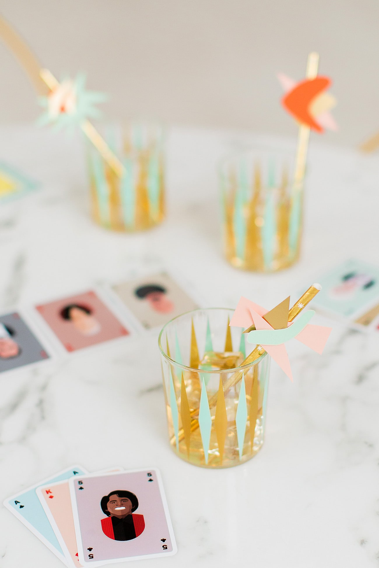 DIY Mid Century Straw Drink Stirrers by top Houston lifestyle blogger Ashley Rose of Sugar & Cloth