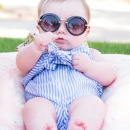 My Current Favorite Baby Sunglasses for Gwen by top Houston lifestyle blogger Ashley Rose of Sugar & Cloth