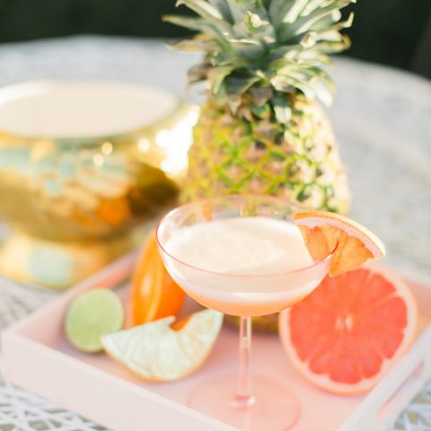 Frequent Flyer Gin Punch Recipe by top houston blogger Ashley Rose of Sugar & Cloth