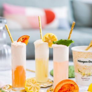 3 Sparkling Ice Cream Cocktail Recipes by top Houston lifestyle blogger Ashley Rose of Sugar & Cloth #cocktails #entertaining #recipes #icecream