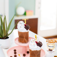 Chocolate Salted Fudge Truffle Milkless Milkshakes by top Houston lifestyle blogger Ashley Rose of Sugar & Cloth - #recipes #icecream