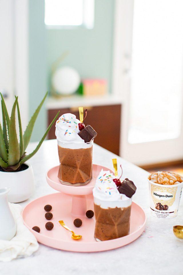 Chocolate Salted Fudge Truffle Milkless Milkshakes