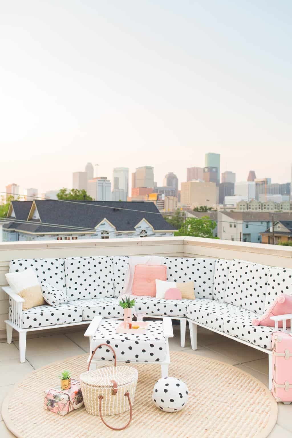 Our Downtown Rooftop Patio Makeover Reveal By Top Houston Lifestyle Blogger  Ashley Rose Of Sugar U0026