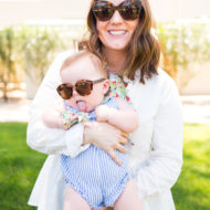 DIY Cooling Neckerchiefs that Snap for Baby by top Houston lifestyle blogger Ashley Rose of Sugar & Cloth #travel #diy #howto #babystyle