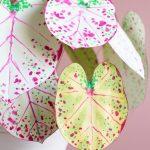 How to Make Paper Plants + A DIY Paper Caladium