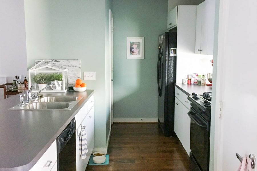 Sugar & Cloth Casa: Our Kitchen Makeover Design Plan & Before Photos! by top Houston lifestyle blogger Ashley Rose of Sugar & Cloth #homedecor #kitchen #interiordesign #homerenovations