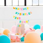Faux Balloon DIY Letter Garland