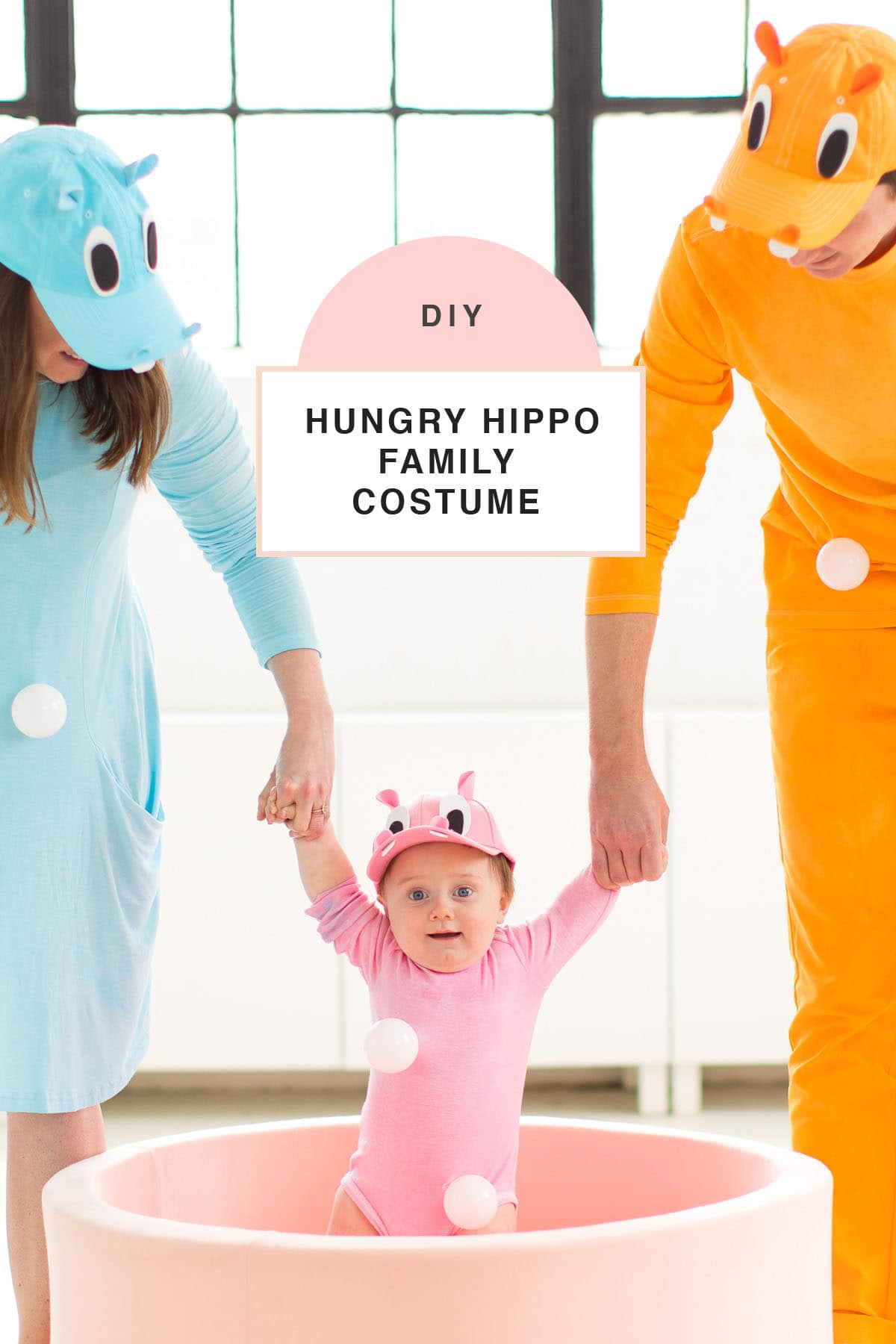 family costume idea! -- loading up the crazy amount of baby gear! Our Family DIY Hungry Hippos Costume Idea -- by Top Houston blogger Ashley Rose of Sugar and Cloth -- #costumes #halloween #ideas #family #familycostume #diy