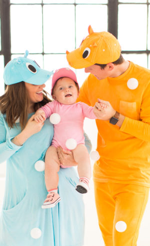 Our Family DIY Hungry Hippos Costume Idea