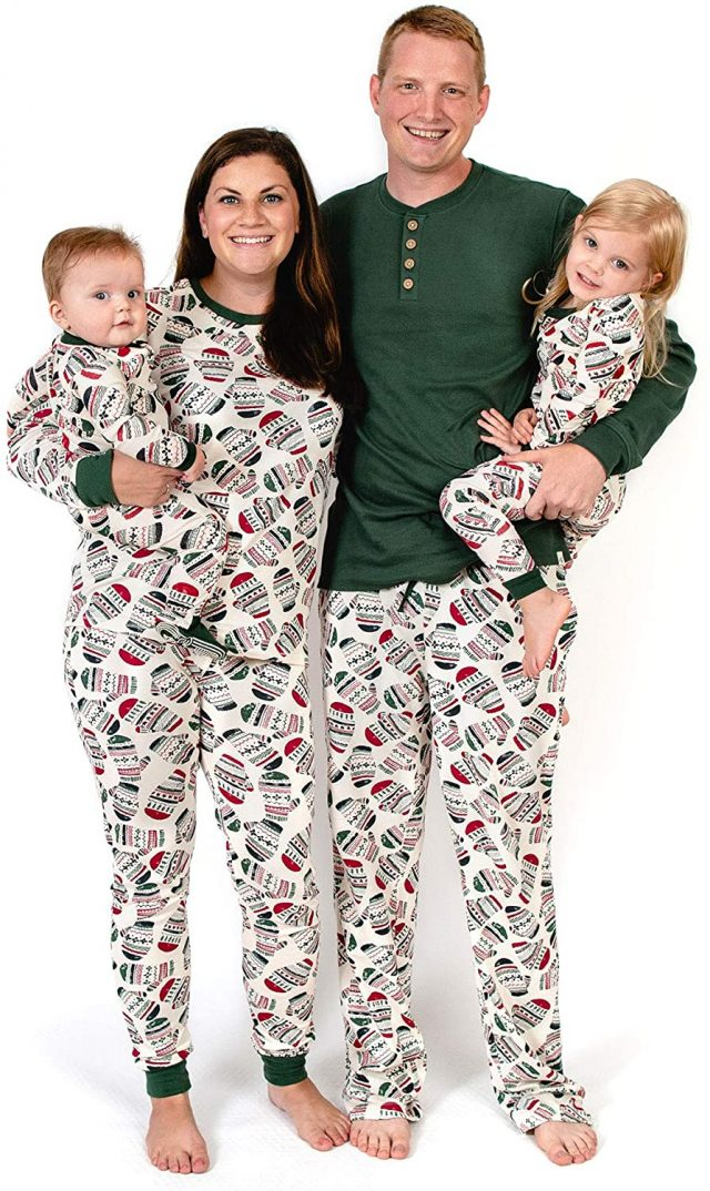photo of the Merry Mittens Matching Family Jammies by Burt's Bees