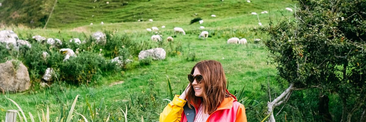 Standing with sheep along the coast in Belfast - Photos of Our British Isles Cruise with Family! | Part 2 # travel #familytravel #cruise #decor #design #britishisles