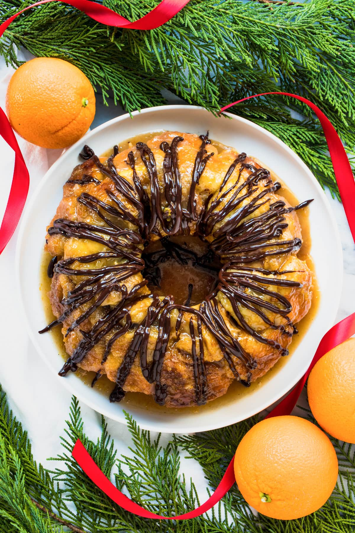 doesn't it look delish?! an easy monkey bread recipe with chocolate and orange flavors (or whatever floats your boat!) for the holidays! by top Houston lifestyle blogger Ashley Rose of Sugar & Cloth - #recipe #easy #christmas #holidays #quickrecipes #easyrecipe #holiday #winter