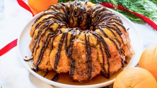 An Easy Monkey Bread With Chocolate and Orange Glaze Recipe
