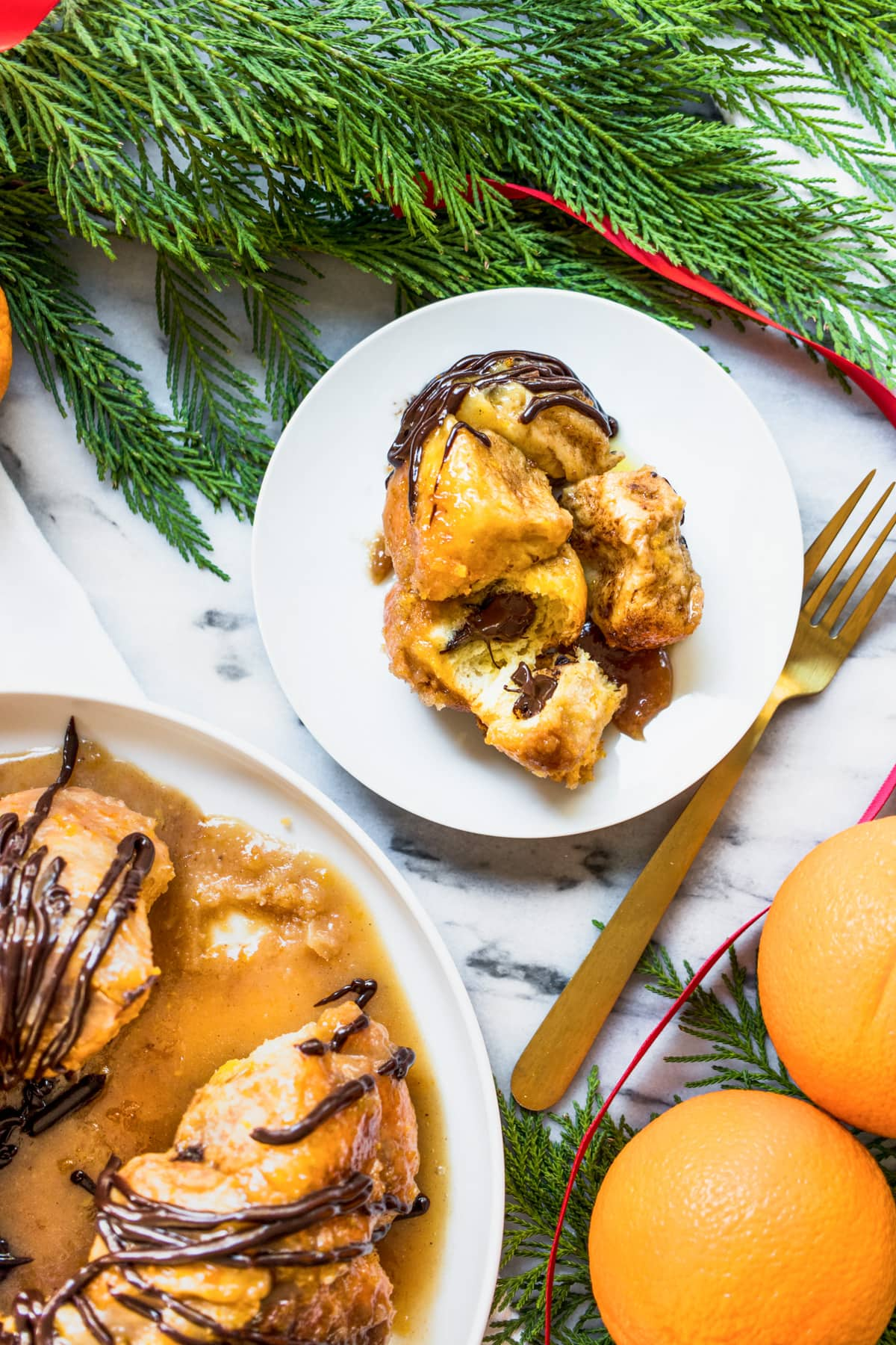 dessert is served! an easy monkey bread recipe with chocolate and orange flavors (or whatever floats your boat!) for the holidays! by top Houston lifestyle blogger Ashley Rose of Sugar & Cloth - #recipe #easy #christmas #holidays #quickrecipes #easyrecipe #holiday #winter
