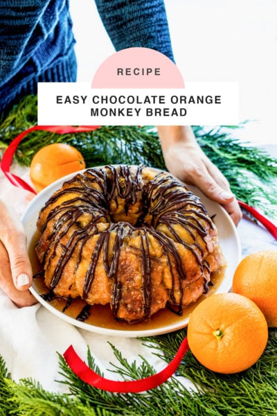 an easy monkey bread recipe with chocolate and orange flavors (or whatever floats your boat!) for the holidays! by top Houston lifestyle blogger Ashley Rose of Sugar & Cloth - #recipe #easy #christmas #holidays #quickrecipes #easyrecipe #holiday #winter