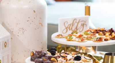 sweet and salty burschetta - How to Make a Bruschetta Recipe Bar by top Houston lifestyle blogger Ashley Rose of Sugar & Cloth #recipe #bruschetta #bar #ideas #entertaining #howto #easy