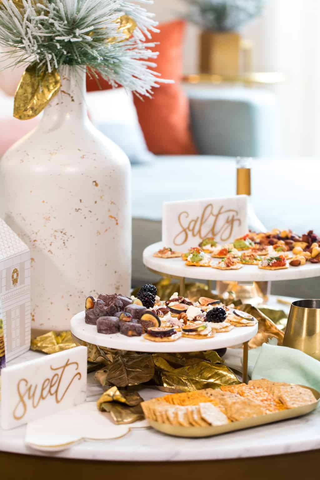 sweet and salty burschetta - How to Make a Bruschetta Recipe Bar by top Houston lifestyle blogger Ashley Rose of Sugar & Cloth #recipe #bruschetta #bar #ideas #entertaining #howto #easy