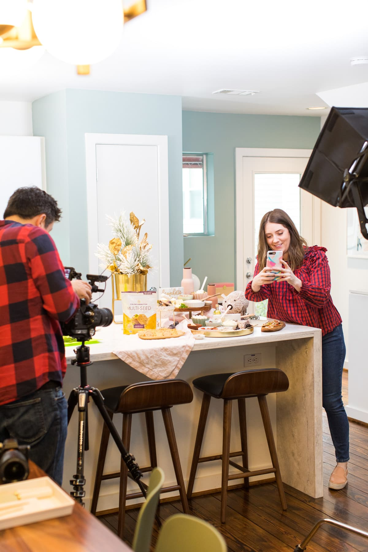 Cameras on cameras on cameras! How to Make a Bruschetta Recipe Bar by top Houston lifestyle blogger Ashley Rose of Sugar & Cloth #recipe #bruschetta #bar #ideas #entertaining #howto #easy