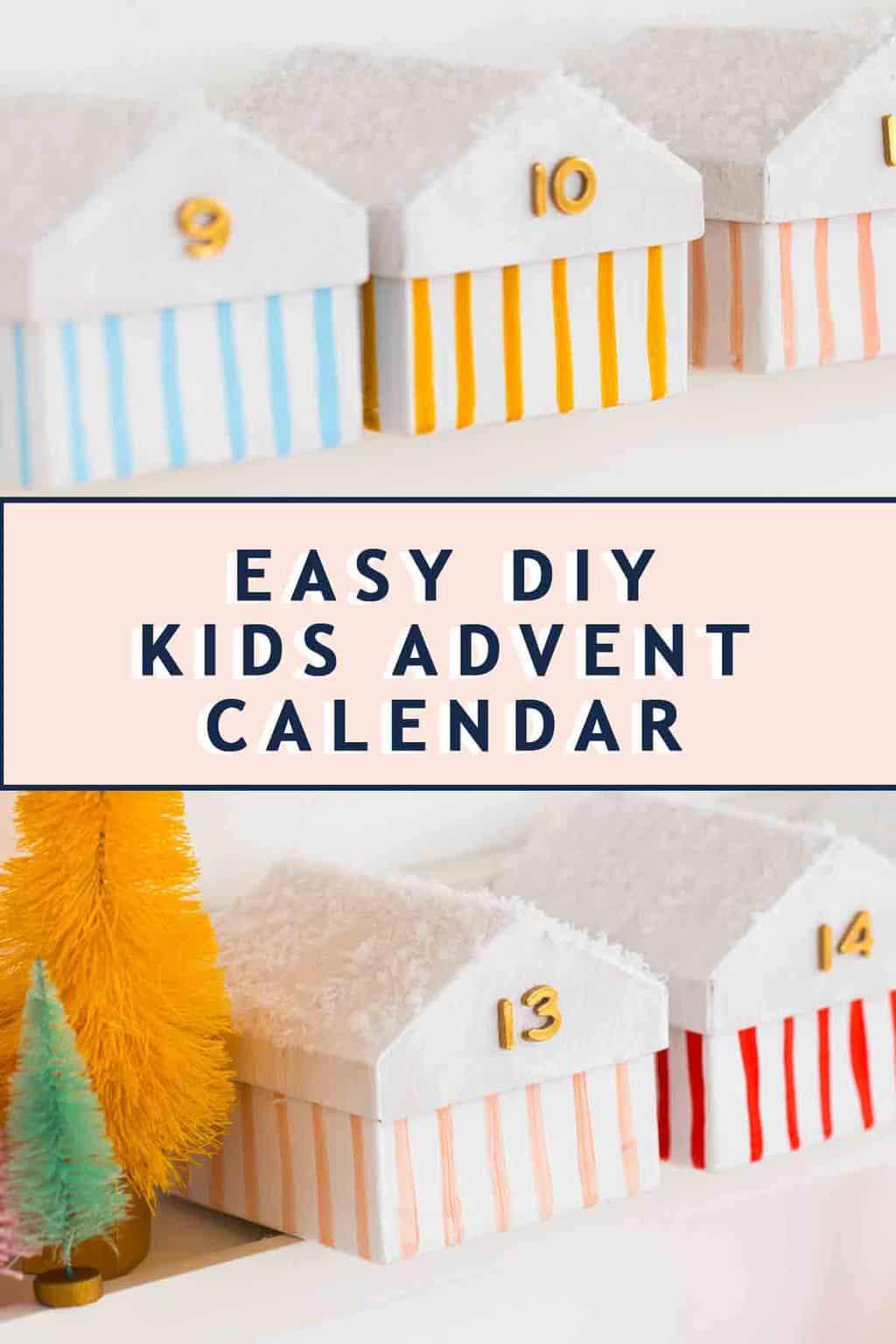 photo of an easy DIY advent calendar