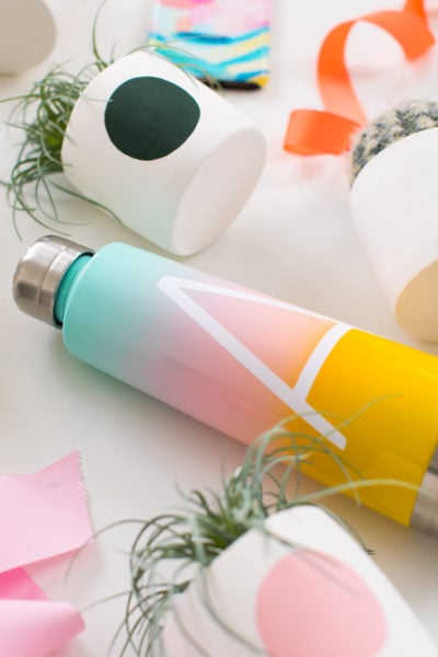 a monogrammed gradient water bottle my favorite etsy finds for christmas! Etsy Gift Guide For The Whole Family Under $75 by top Houston lifestyle blogger Ashley Rose of Sugar and Cloth #christmas #gifts #giftguide #holidays #presents #ideas #family #winter #handmade #etsyfinds #shopping #homedecor #style