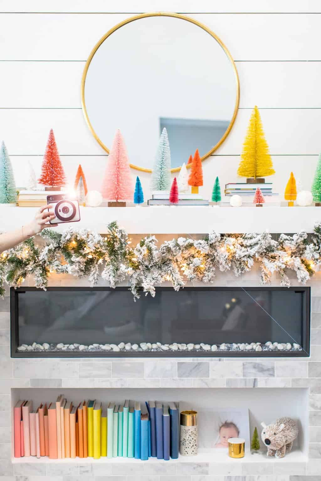 it's a holiday instax party! A Party Scavenger Hunt Game Kids Activity by top Houston lifestyle blogger Ashley Rose of Sugar & Cloth #DIY #printable #game #ideas #kids #activity #holiday #christmas #scavengerhunt
