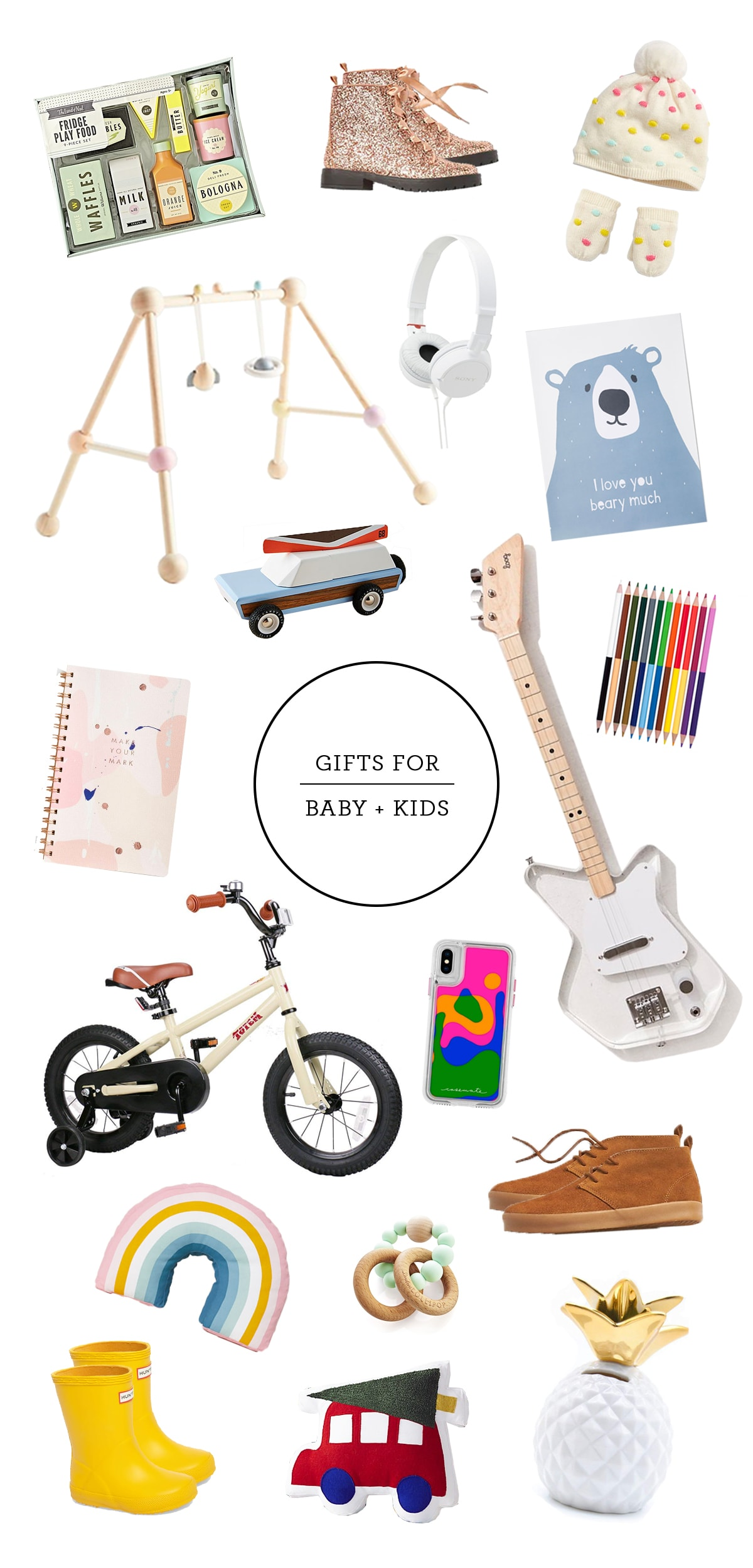 Shopping guide Gifts for Kids by houston lifestyle and diy blogger Ashley Rose with Sugar and Cloth #holidays #shoppingguide #christmas #kidsgifts #babygifts #holidayshopping #chirstmasshopping
