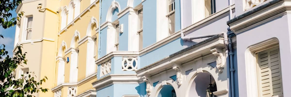 Colorful buildings in Nottinghill! Photos of Our British Isles Cruise with Family! | Part 1 # travel #familytravel #cruise #decor #design #britishisles