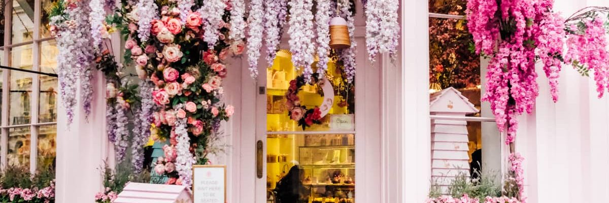 Dying over the Peggy Porschen entrance in London! Photos of Our British Isles Cruise with Family! | Part 1 # travel #familytravel #cruise #decor #design #britishisles