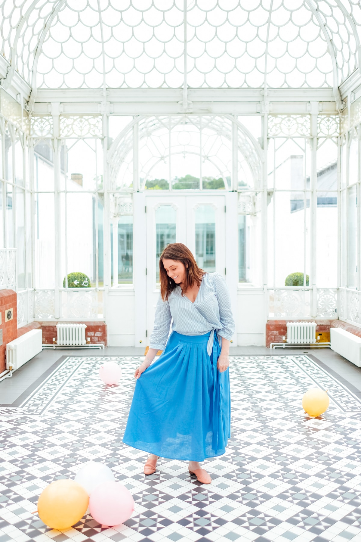 A classic skirt in Horniman Gardens London! Photos of Our British Isles Cruise with Family!   Part 1 # travel #familytravel #cruise #decor #design #britishisles