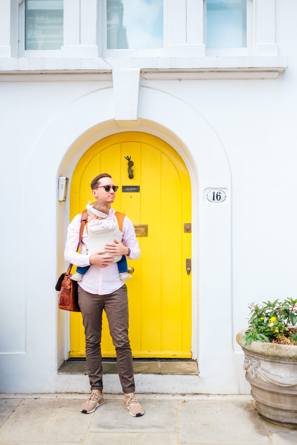 Yellow front door in Kensington, London! Photos of Our British Isles Cruise with Family! | Part 1 # travel #familytravel #cruise #decor #design #britishisles
