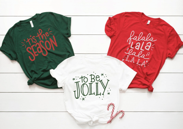 tis the season to be jolly t shirt and two matching tshirts others
