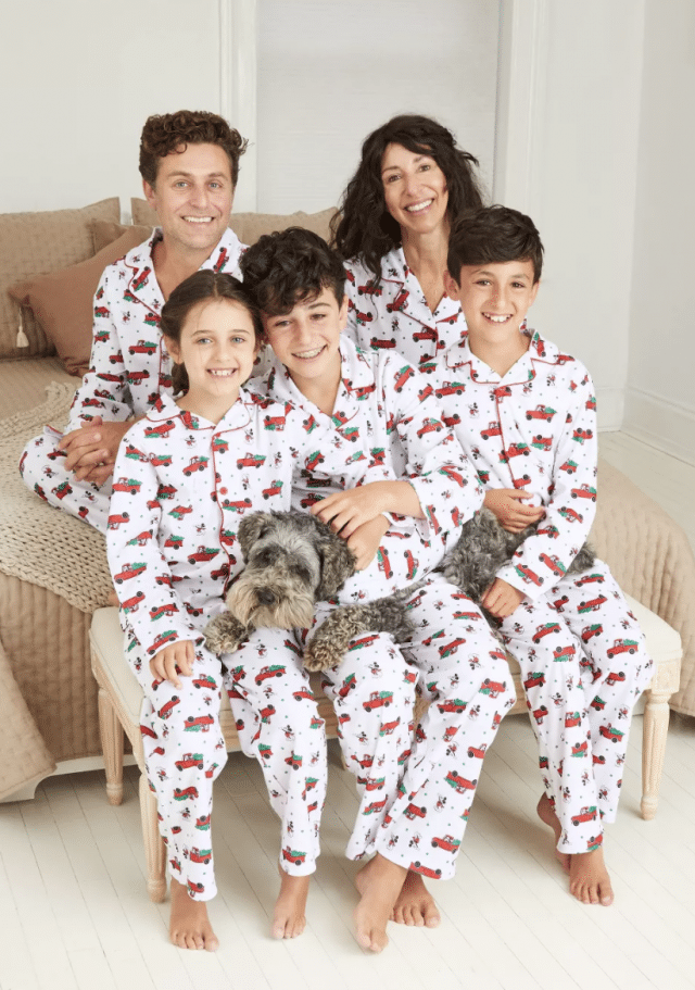 photo of the mickey mouse flannel family pajamas set