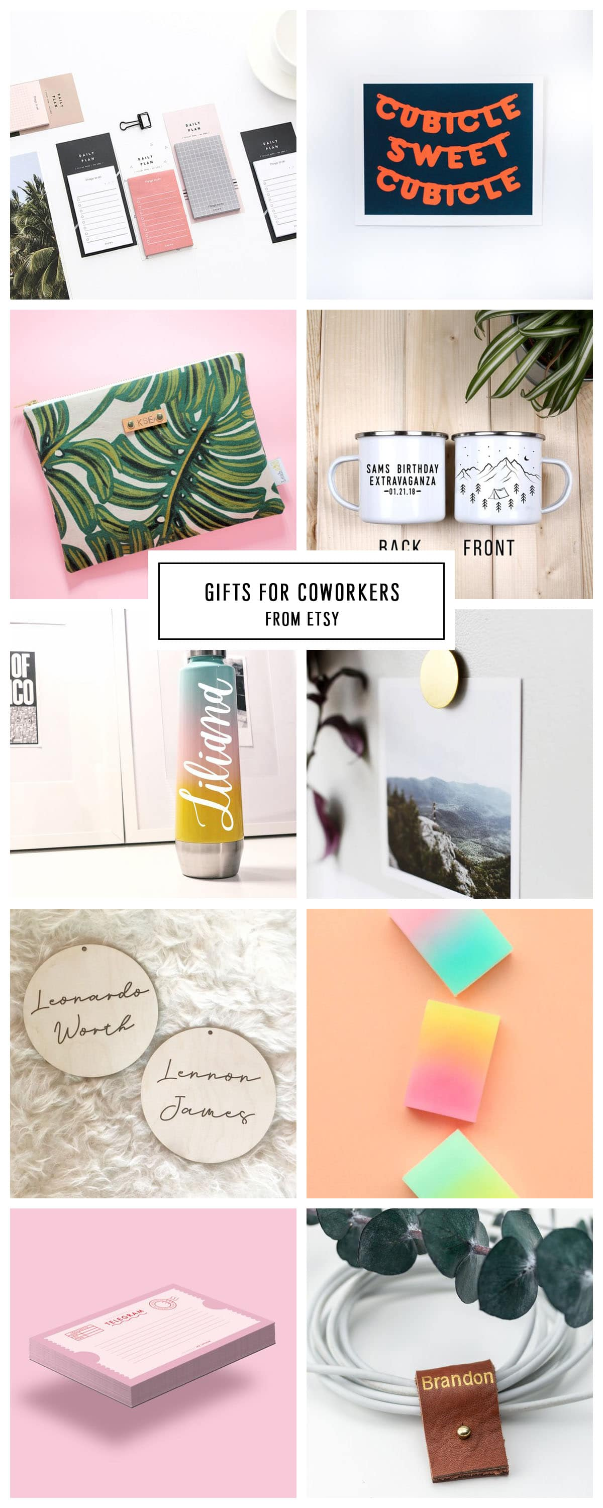 COMPLETE ETSY GIFT GUIDE FOR COWORKERS UNDER $75 by Houston lifestyle blogger Ashley Rose of Sugar and Cloth -- #giftguide #christmas #entertaining #holidaygifts #presents