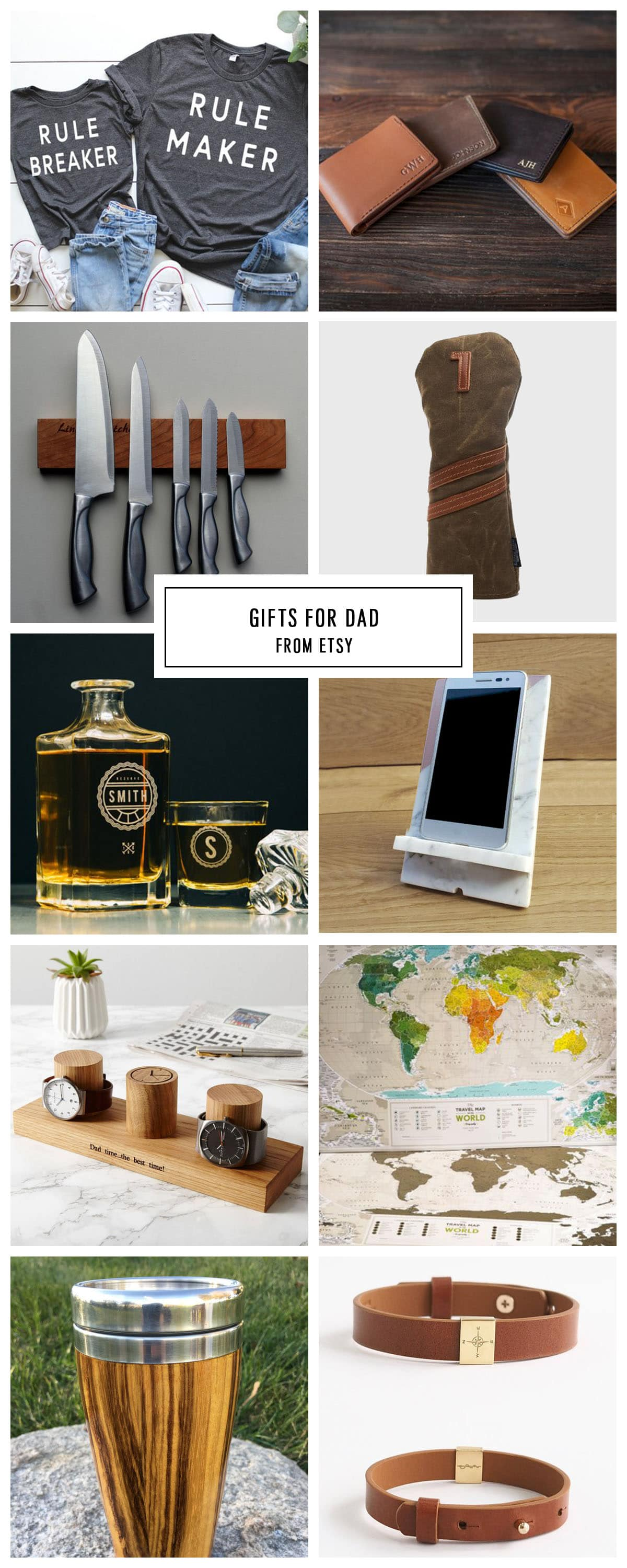 COMPLETE ETSY GIFT GUIDE FOR DAD UNDER $75 by Houston lifestyle blogger Ashley Rose of Sugar and Cloth -- #giftguide #christmas #entertaining #holidaygifts #presents