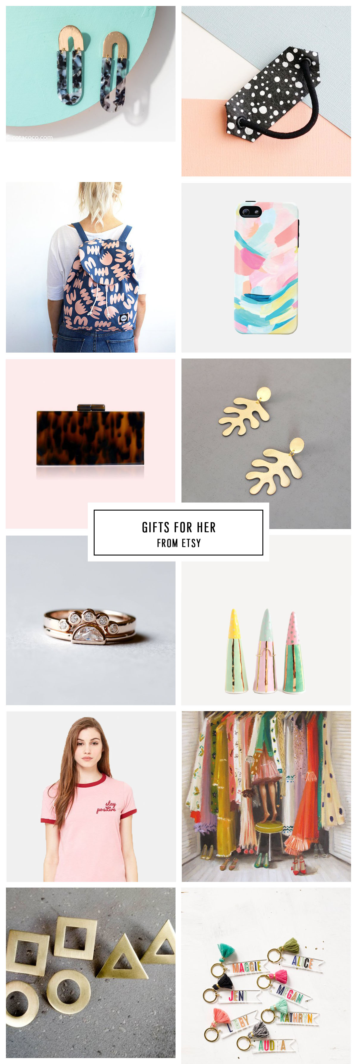 COMPLETE ETSY GIFT GUIDE FOR HER UNDER $75 by Houston lifestyle blogger Ashley Rose of Sugar and Cloth -- #giftguide #christmas #entertaining #holidaygifts #presents