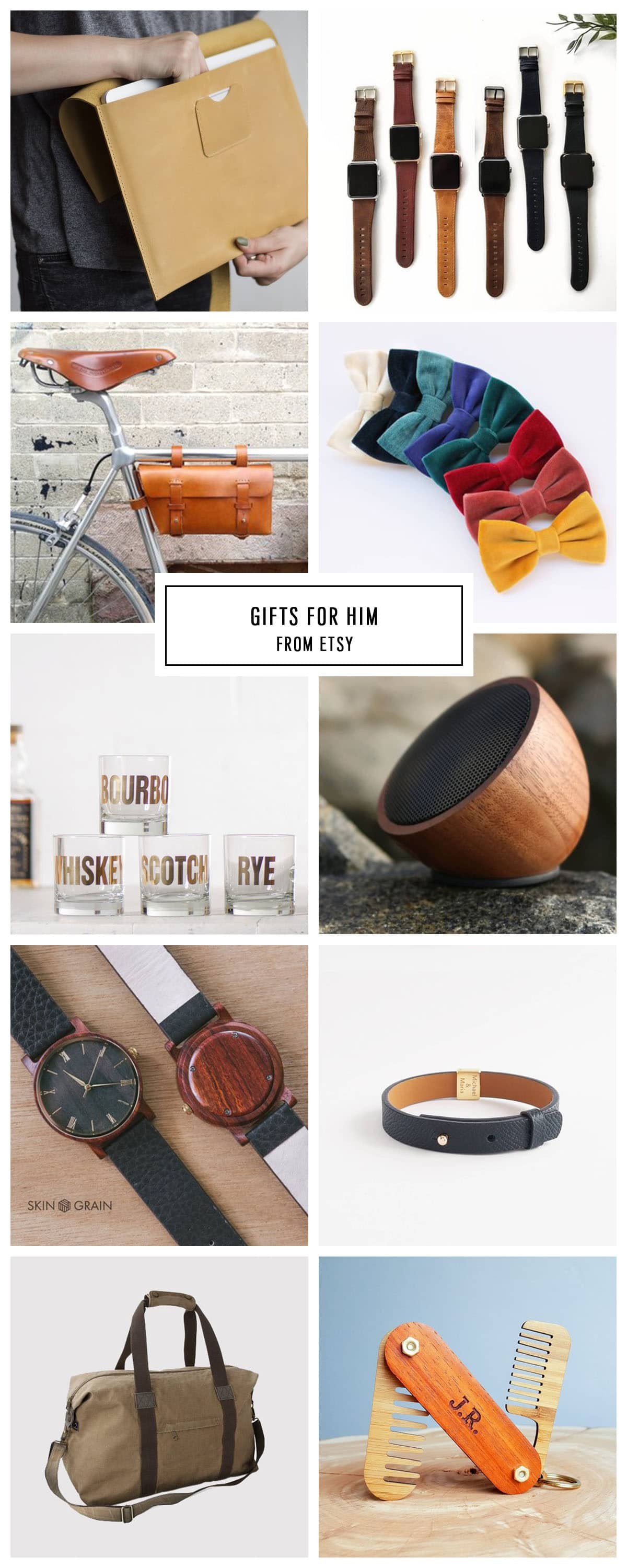 COMPLETE ETSY GIFT GUIDE FOR HIM UNDER $75 by Houston lifestyle blogger Ashley Rose of Sugar and Cloth -- #giftguide #christmas #entertaining #holidaygifts #presents