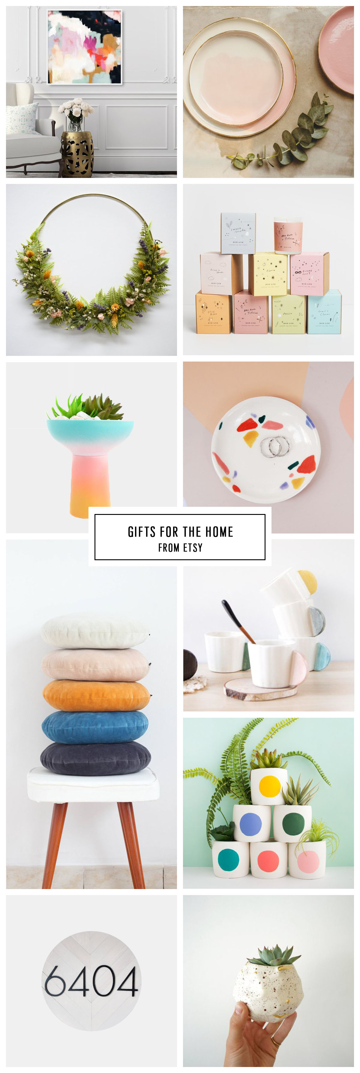 COMPLETE ETSY GIFT GUIDE FOR THE HOME UNDER $75 by Houston lifestyle blogger Ashley Rose of Sugar and Cloth -- #giftguide #christmas #entertaining #holidaygifts #presents