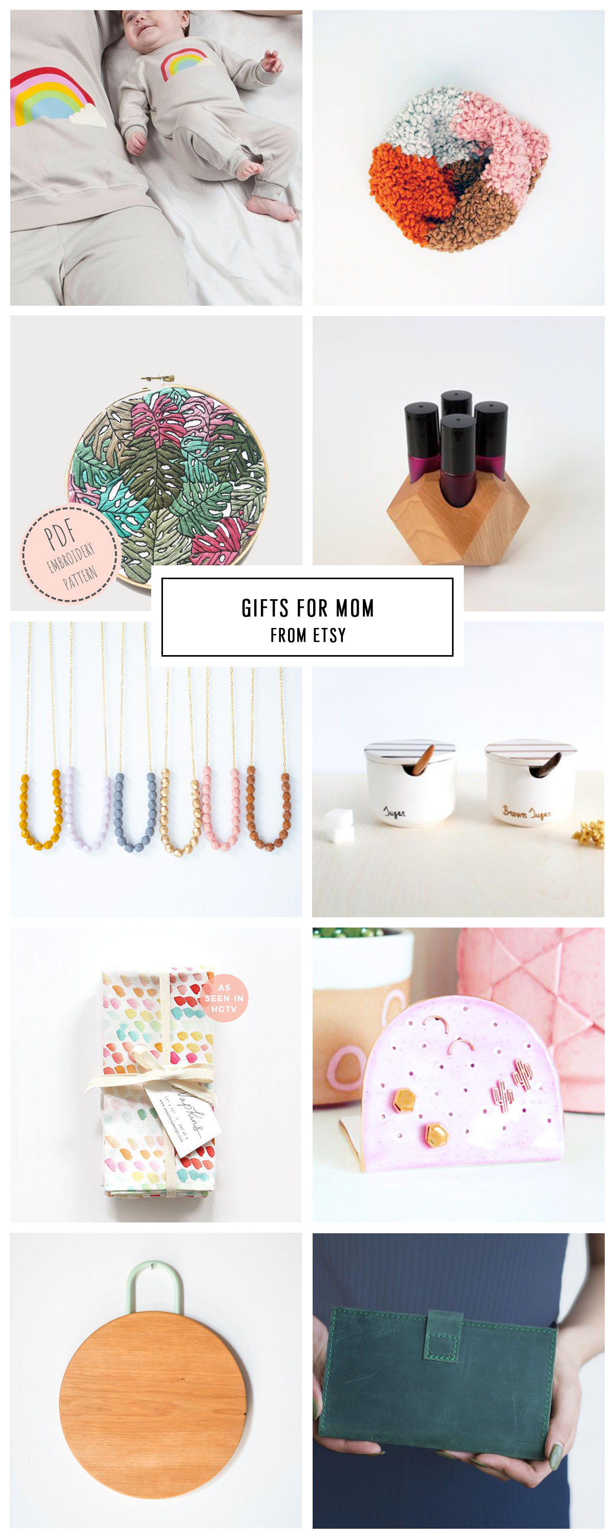 Etsy Gift Guide For The Whole Family Under 75 Sugar Cloth