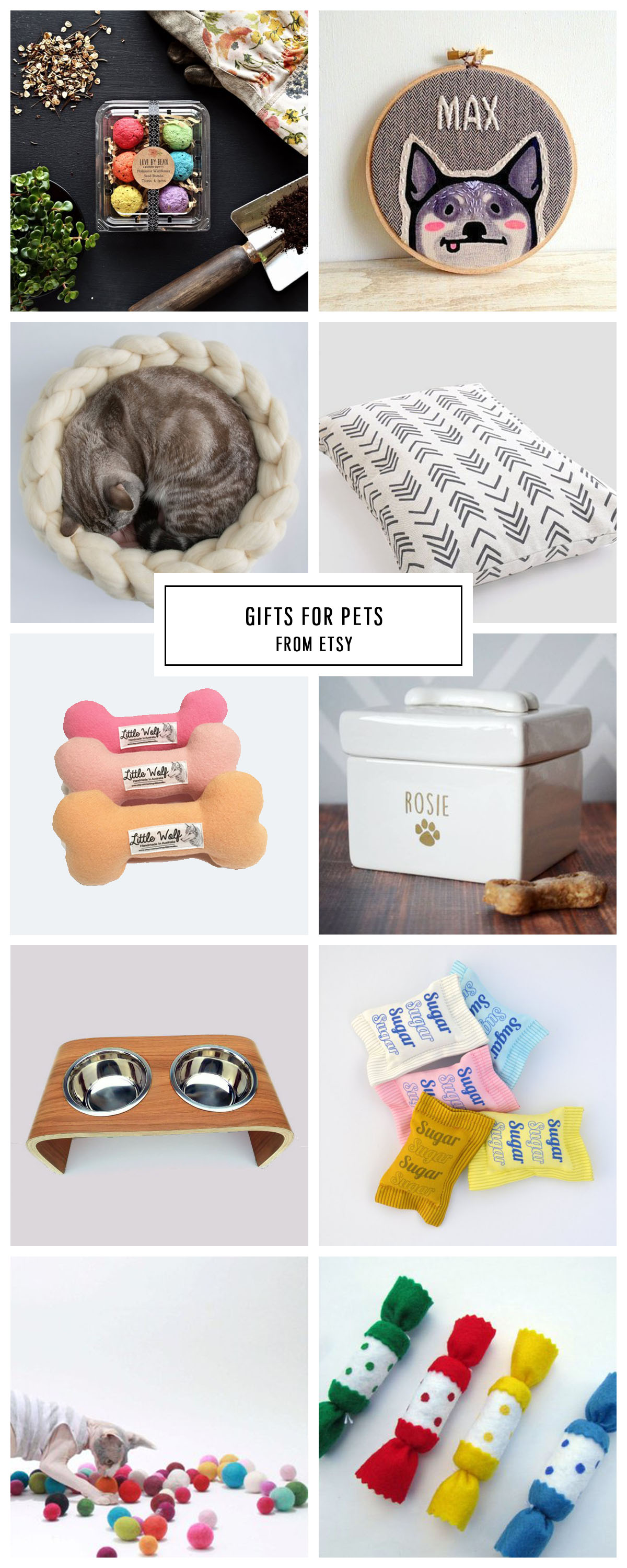 COMPLETE ETSY GIFT GUIDE FOR PETS UNDER $75 by Houston lifestyle blogger Ashley Rose of Sugar and Cloth -- #giftguide #christmas #entertaining #holidaygifts #presents