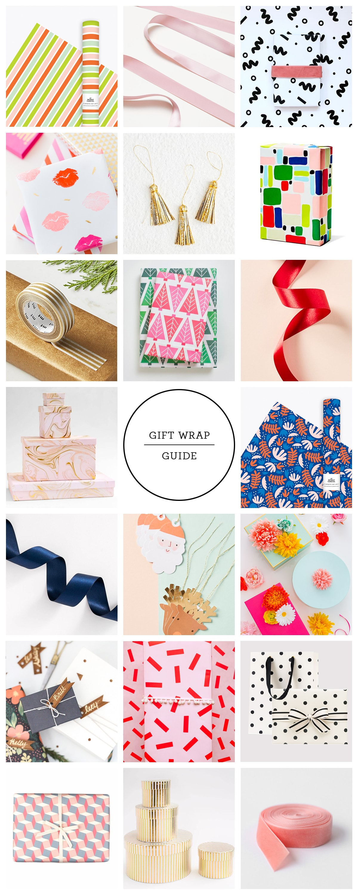 2018 holiday gift wrap shopping guide by top Houston lifestyle blogger Ashley Rose of Sugar and Cloth