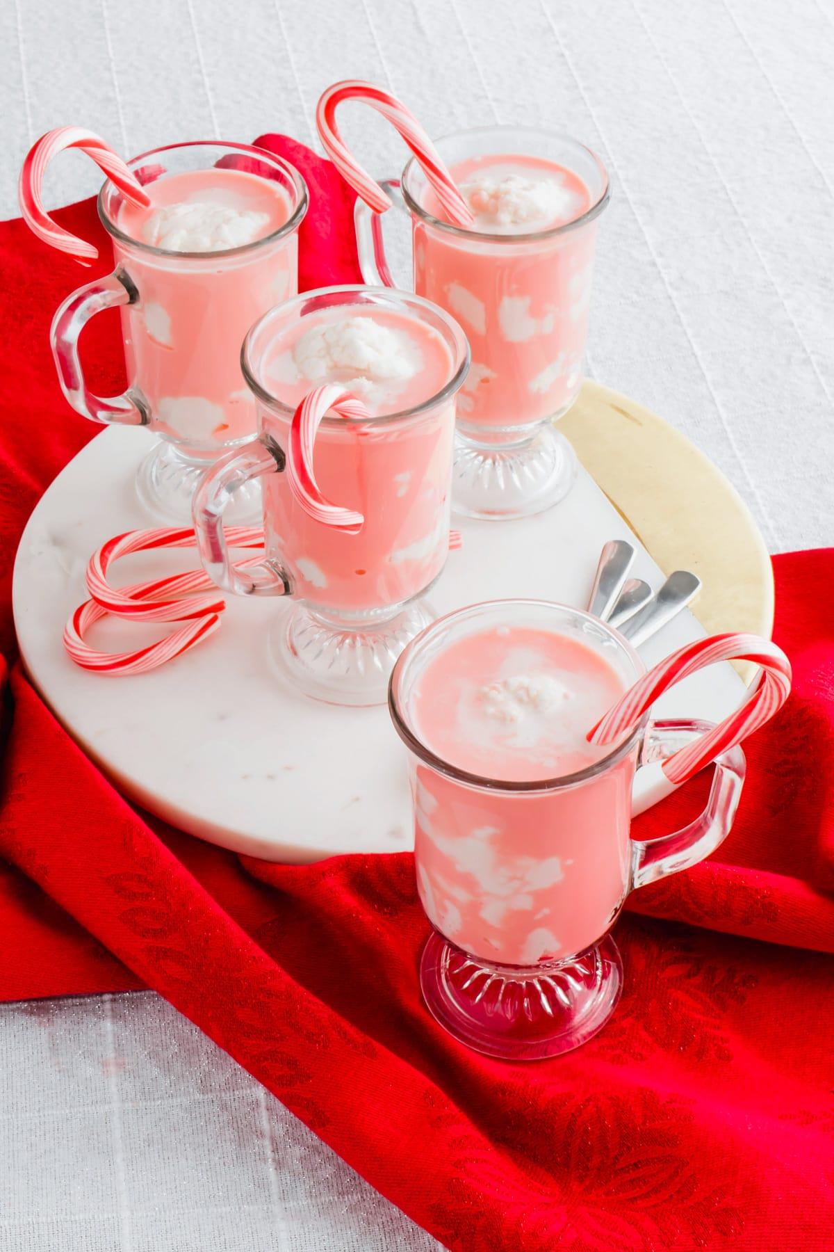 festive Candy Cane Affogato recipe by top Houston lifesyle blogger Ashley Rose of Sugar and Cloth #recipes #christmas #holiday #entertaining #idea