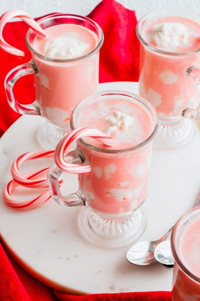 delicious Candy Cane Affogato recipe by top Houston lifesyle blogger Ashley Rose of Sugar and Cloth #recipes #christmas #holiday #entertaining #idea